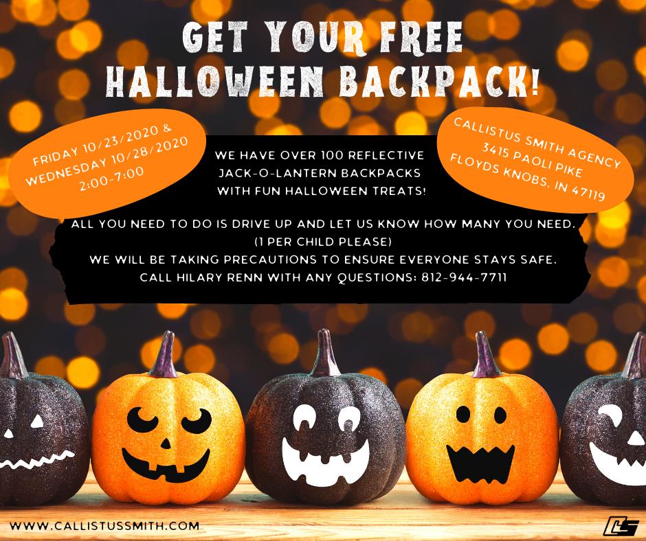 Free Halloween Backpack Details